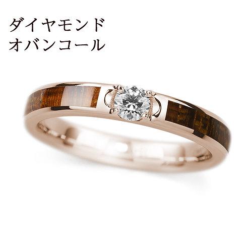 K18PG【世界の美木】結婚指輪 -ダイヤ入り-