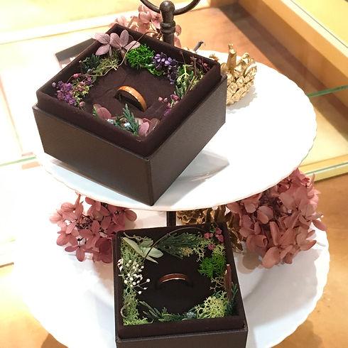 結婚5周年  『木婚式』のお祝いに。   記念の木の指輪 