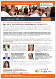 Master Entrepreneur Program Brochure Sydney 2018