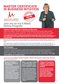 MAW Action Master Certificate in Business Intuition