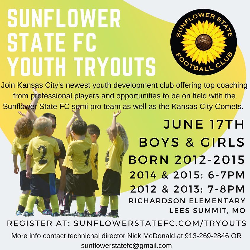 Sunflower State FC Youth Tryouts (2014 & 2015)