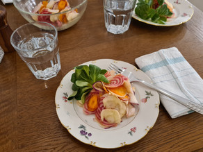 Winter-Salat mit Rettich und Chioggia-Randen