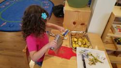 preparing snack sailor