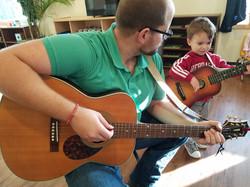mr Richards and Bennett 2 guitars