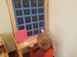 making r on the chackboard