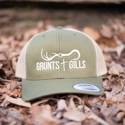 Hunter Green/Tan Hat