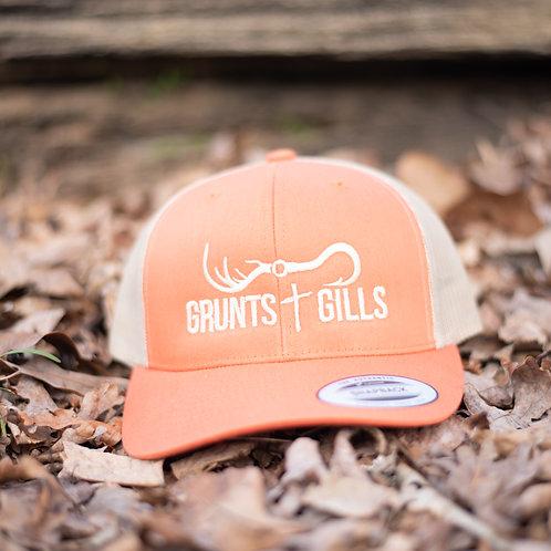 Orange/Tan Hat
