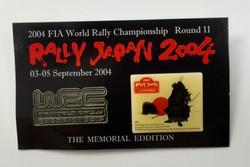 RallyJAPAN2004ピンバッチ