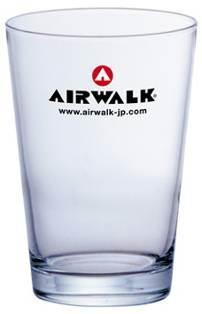 AIRWALKノベルティ ガラスタンブラー