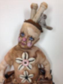 Sad Clown Girl (detail)  Clarissa Callesen