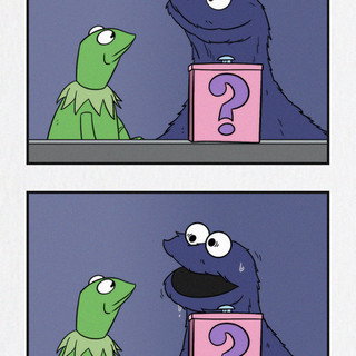 Kermit and Cookie Monster