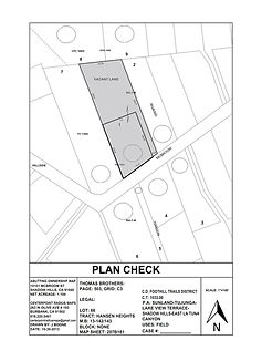Plan Check Sample