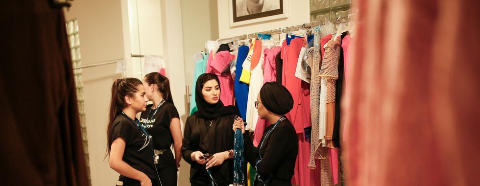 Backstage at Arab Fashion Week SS20