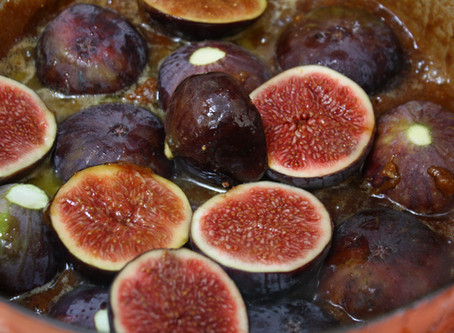 Upside-down Caramelised Fig & Almond Cake