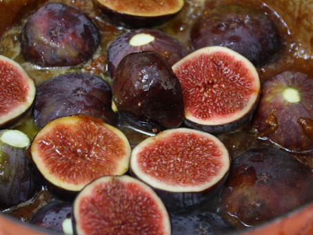 Upside-down Caramelised Fig & Almond Cake