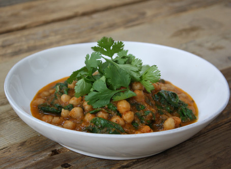 Channa Masala with Spinach