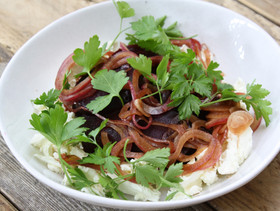 Labneh with Roast Beetroot and Sweet and