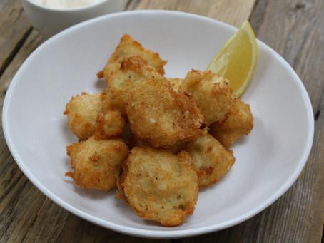 Salt-cod Fritters, Saffron Aliolli
