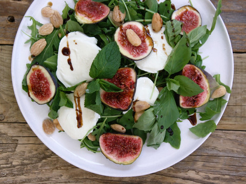 Fig, Salted Almond and Bufala Mozarella