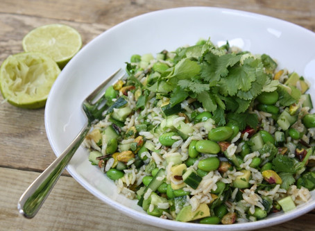 Super Green Salad with Thai Dressing