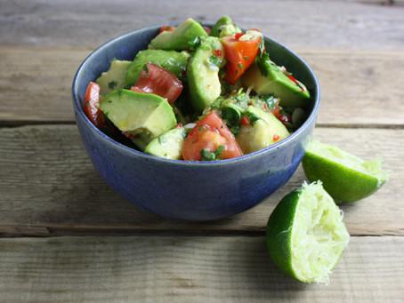 Tomato, Spring Onion, Chilli, Coriander & Lime Salsa / Salad