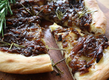Red Onion and Rosemary Focaccia.