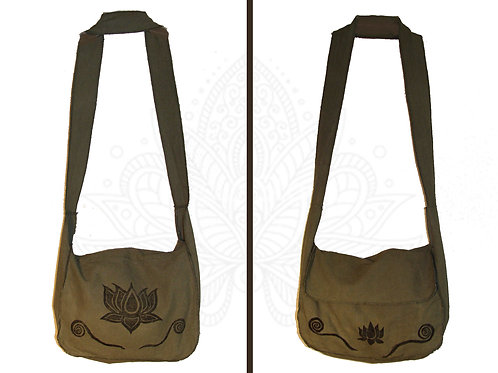 Lotus with swirls bag