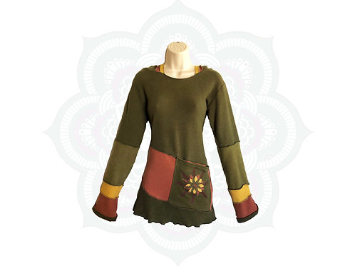 One of a kind Organic Cotton and Hemp Hoodie - Size Medium ready to ship