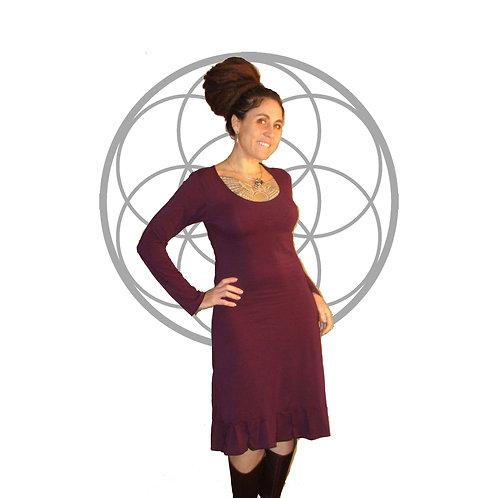 The Kyomi 2.0  Dress - Organic cotton and Bamboo Long sleeve dress