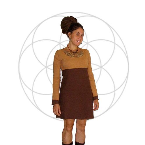 The Bella Long sleeve, two tone dress
