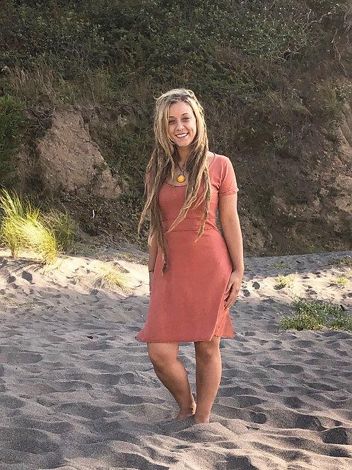 The Lily dress - Organic Cotton and Hemp bend short sleeve dress