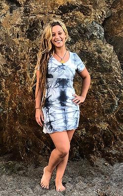 one of a kind tye dye dress size medium.