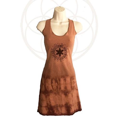 One of a kind Racer Back Dress - organic cotton and hemp Size Medium