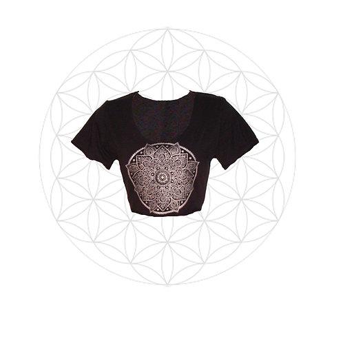 Mandala print crop top