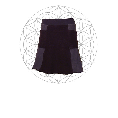 The Alika skirt Two tone organic cotton and hemp skirt