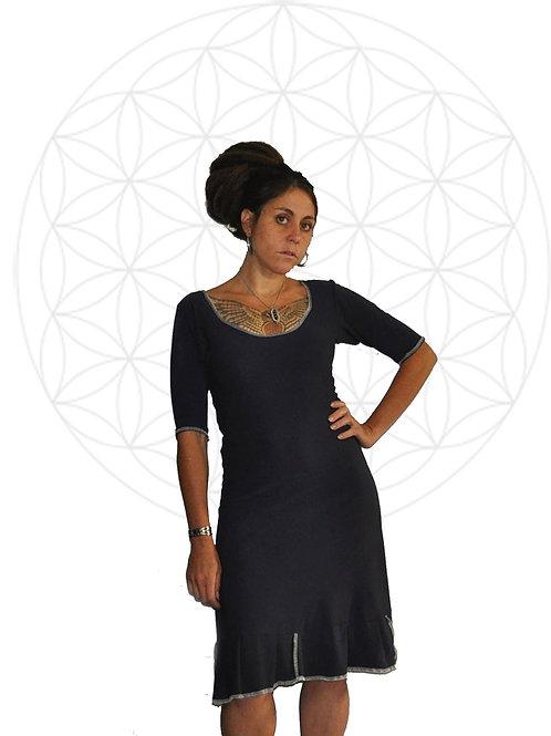 Kyomi Dress - Organic cotton and Bamboo half sleeve dress