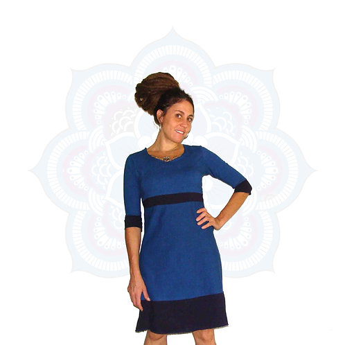 The Badru Dress - Two tone Organic Cotton and Hemp dress