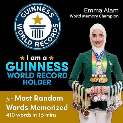 Emma Alam, GWR Record