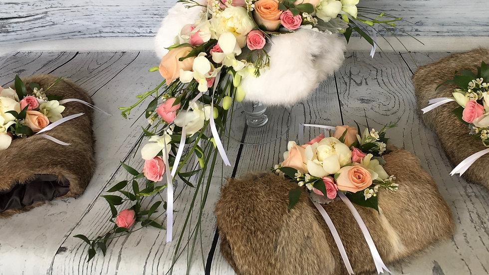 Embellishment for Bride's Fur Muff