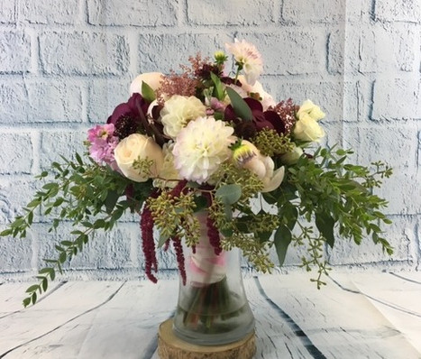 Oblong Hand Tie Bouquet