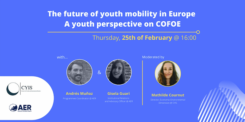 The future of youth mobility in Europe   A youth perspective on COFOE
