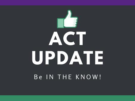ACT Update: Unemployment, Education Equity, Volunteering, Food Security/FAA