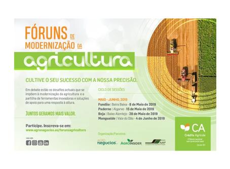 """""""Fóruns de Modernização da Agricultura"""" – Debates sobre os desafios do setor."""