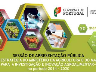 """Sessão pública de apresentação da """"Estratégia do Ministério da Agricultura e do Mar para a Inve"""