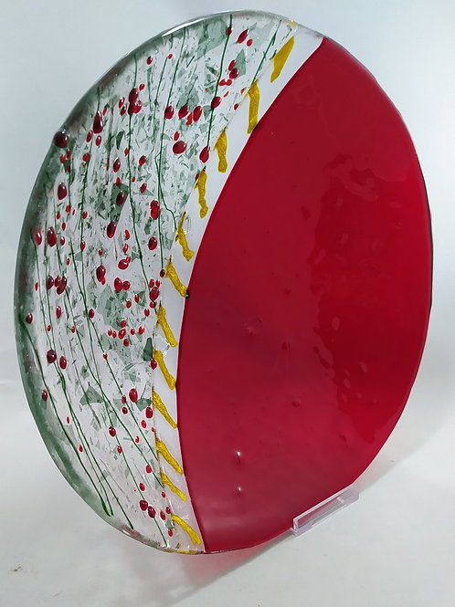 Red decorative bowl