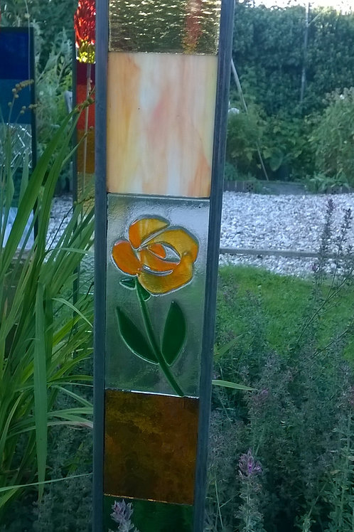 Amber rose garden panel