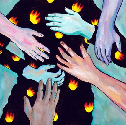 du feu des mains