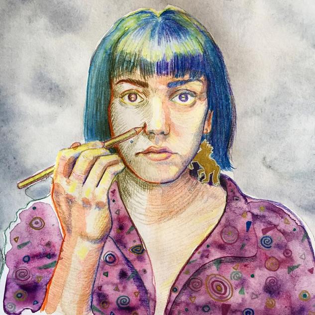 Autoportrait en arlequin, 2018