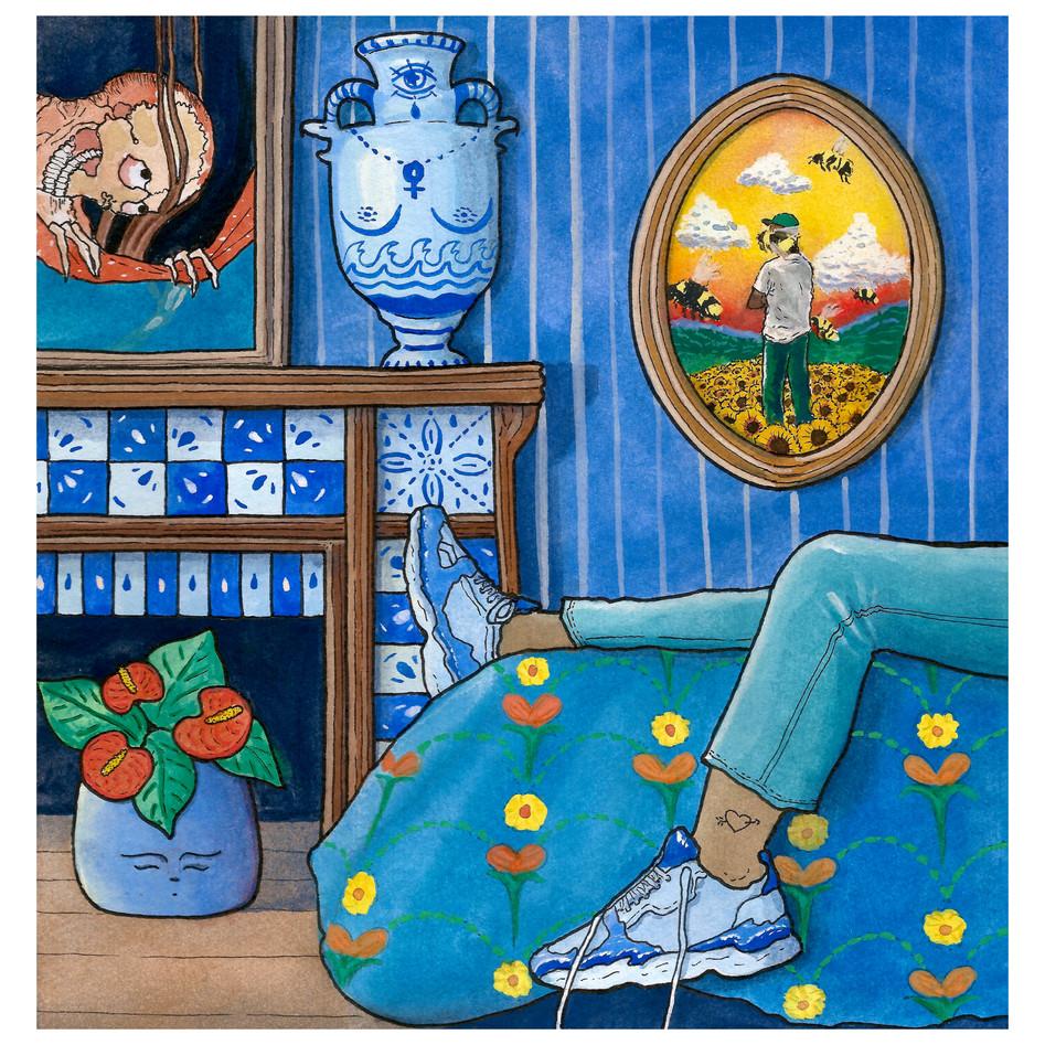 bleue, chambre n°57