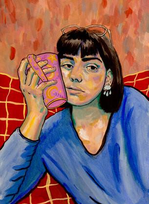 autoportrait à la tasse, 2020